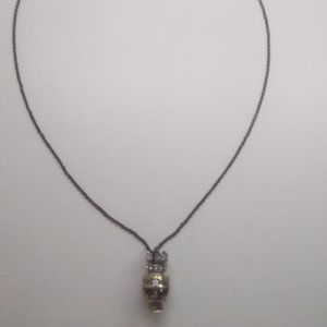 Betsey Johnson New Gold Skull Necklace